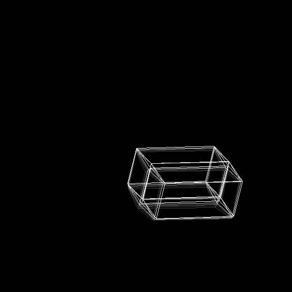 4D-Cube (hypercube) screensaver