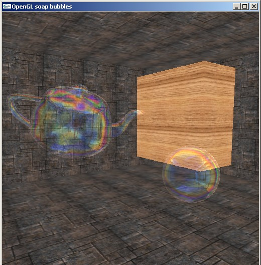 soap bubbles in GLSL